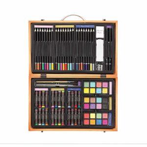 Maletín artístico abierto y con vista a todos los colores que incluye dentro.