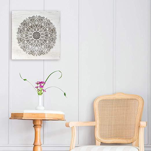 mandalas de madera para colgar en la pared