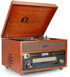 radio antigua con tocadiscos